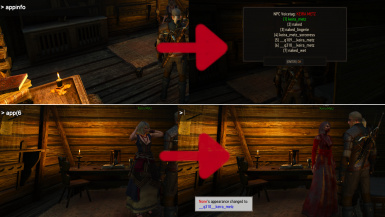 New Console Commands - change the appearance of npcs - add or remove geralts neck tattoo - and more