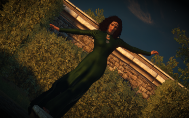 Masquerade green gown addon