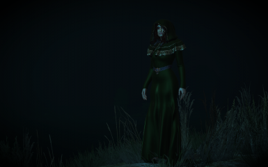 casual green gown addon belt
