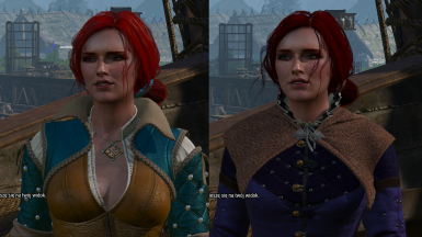 Static outfits for Triss