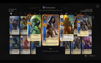 Gwent Cards with Swapped Textures