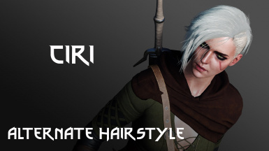 Ciri Alternate Hairstyle from Cyberpunk 2077