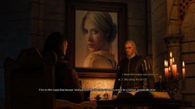 Ciri's Replacement Portrait on Display in Emyhr's Office