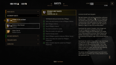 redania's most wanted: changed mind and crystal to triss
