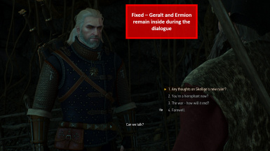 Fixed - Geralt and Ermion Stay in Correct Place Inside the Cave
