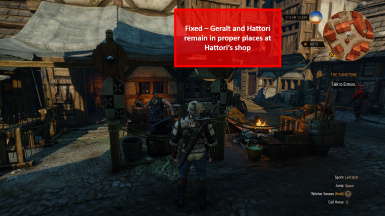 Fixed - Geralt and Hattori Remain At Shop
