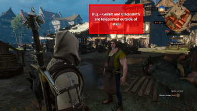 Bug - Geralt and Fish Market Blacksmith Teleported Away from Shop