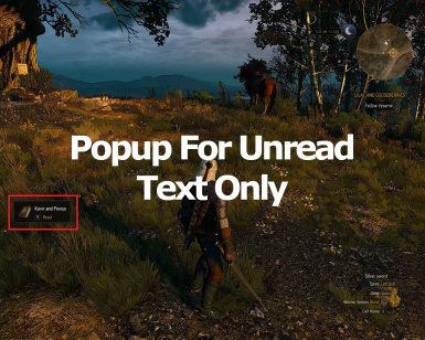 Popup For Unread Text Only