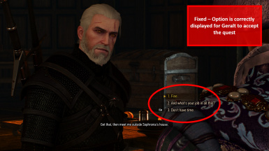 Fixed - Option Available to Accept Quest