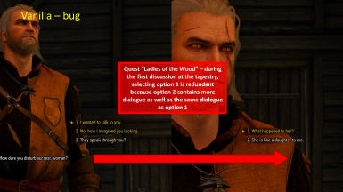 Crones Tapestry Dialogue - Bug