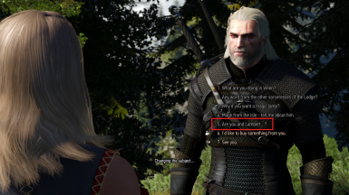 Bug - dialogue option only accessible when Keira is not supposed to be at Kaer Morhen
