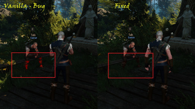 Fixed - Gaetan's boots now have proper color instead of red