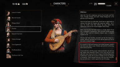 Fixed faulty logic on Priscilla's last journal entry