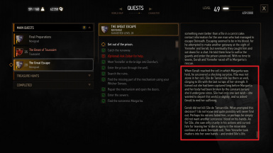 Fixed logic to correctly display Geralt's actions and Sheala / Sile's fate