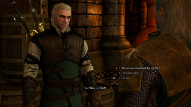 Restored missing dialogue with Vesemir