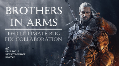 Brothers In Arms - TW3 Ultimate Bug Fix Collaboration
