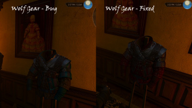 Fixed - Wolf Gear Coloring on Armor Stand in Corvo Bianco