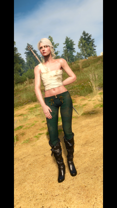 Boots have black/similar color to the main outfit's boots.