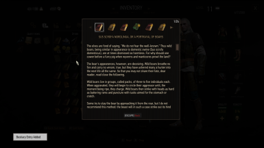 Missing bestiary entries now available