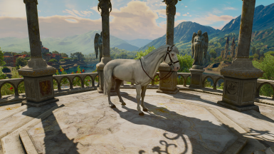 pure white + Fera's Roach and Horse Overhaul mod for hair