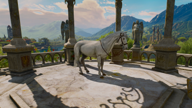 white + Fera's Roach and Horse Overhaul mod for hair
