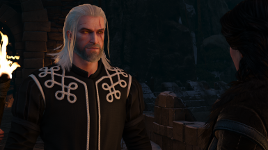 Black and White Skellige Tunic to match with Yennefer