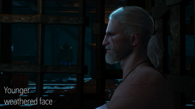 Geralt younger weathered face