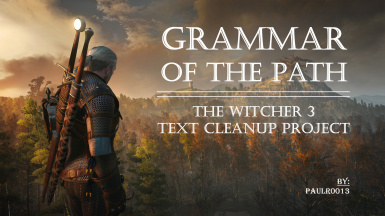 Grammar of the Path - TW3 Text Cleanup Project