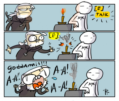 the witcher 3  doodles 176 by ayej daubqea