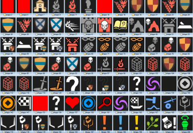 Colored Map Markers 1-21