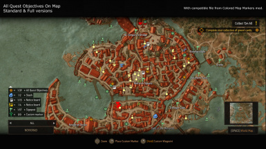 All Quest Objectives On Map at The Witcher 3 Nexus - Mods