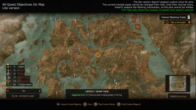 All Quest Objectives On Map at The Witcher 3 Nexus - Mods and community