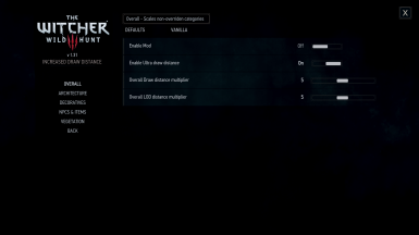 Customization Menu