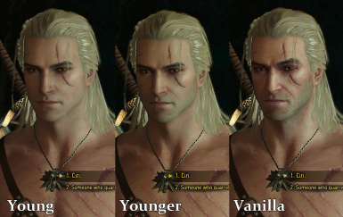 Comparison YoungGeralt V2 and YoungerGeralt