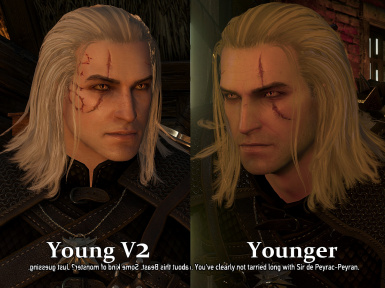 Comparison Young V2 vs Younger version