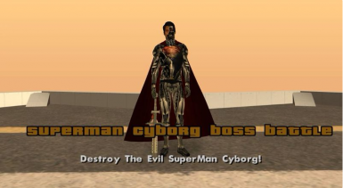 SuperMan Cyborg Boss Battle