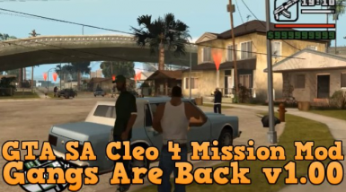Gangs Are Back Intro and Mission 1