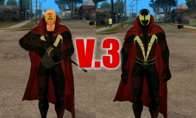 Spawn with Cape Movie Version Skin for GTA SA V.3
