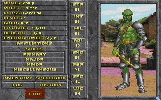 Playable Orc race for Daggerfall